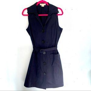 Michael Kors Navy Shirt Dress Sleeveless Size 12